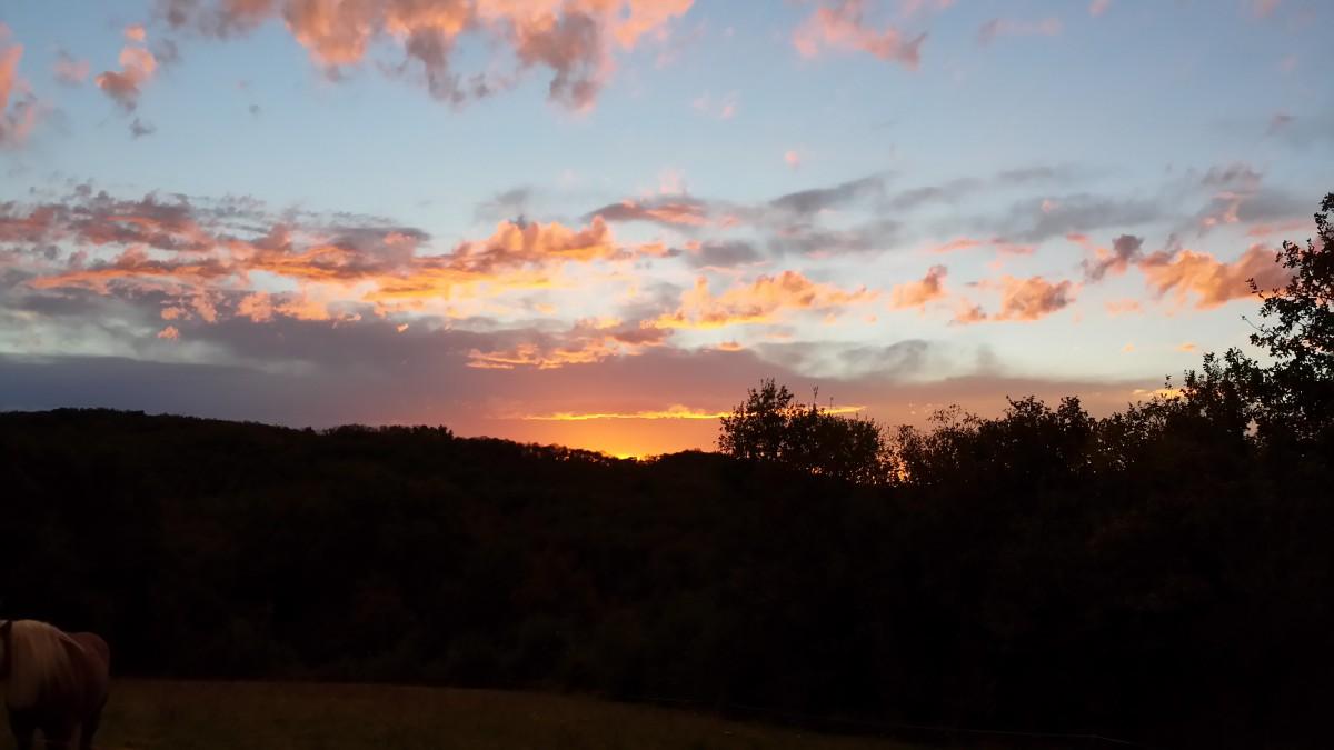 Sonnenuntergang Le Colombié