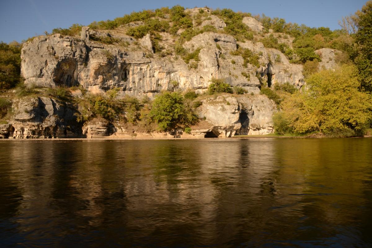 Dordogne Felsen