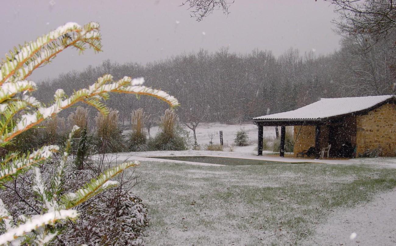 Ferienhaus Owi Schwimmbad – Winter