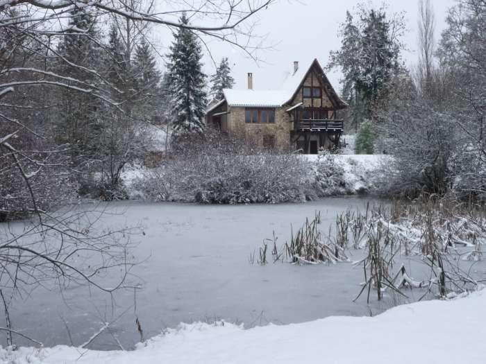 Ferienhaus Fischerhaus – Winter Schnee